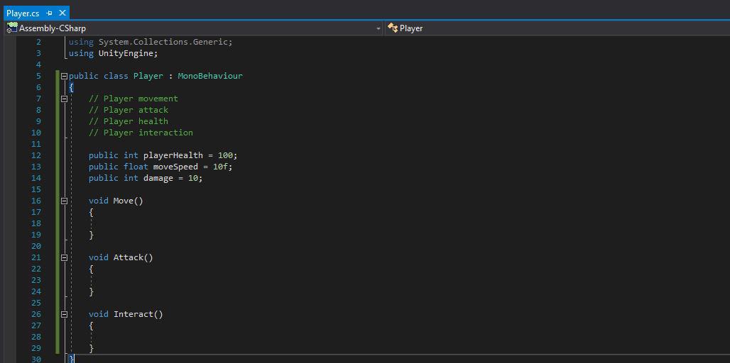Unity C# Scripting Fundamentals – Shane Doherty